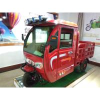 China 48V 1100W 3 wheel Electric Cargo Tricycle Red / Blue With Closed Cabin wholesale