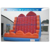 Colorful Inflatable Climbing Wall , Sports Game Velcro Bounce House Mountain Manufactures