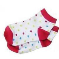 100% Cotton Polka Dot No Seam Anti Slip Baby Socks, Short Tube Baby Girls Dotted Sock Manufactures
