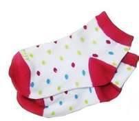 100% Cotton Polka Dot No Seam Anti Slip Baby Socks, Short Tube Baby Girls Dotted Sock
