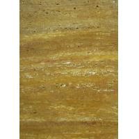 Gold Travertine Yellow Gloss Marble Floor Tiles Polished CE Certification Manufactures