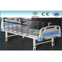 China Self-help Pole Crank High Low Manual Hospital Bed PP / ABS Head on sale