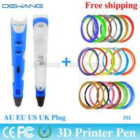 Colorful portable functional 3d printer pen with ABS / PLA 1.75mm filament Manufactures