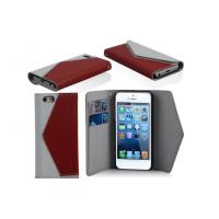 Envelope Style iPhone Leather Wallet Cell Phone Case With Credit Card Slot Manufactures