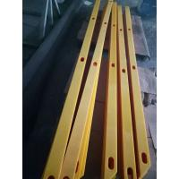 anti corrosion uhmwpe PE1000 plastic machined plastic strips with drilling holes Manufactures