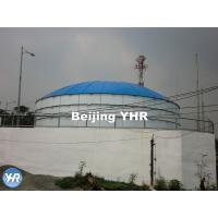 Round Cylindrical GFS Potable Water Storage Tanks Aluminum Flat Roof Manufactures