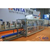China Shrink Wrapping Machine Auto Tray Folding , Auto Sshrink Wrapper 35 Packs Per Min on sale
