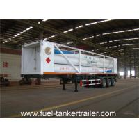 China ISO11120 20 feet 8 Tubes CNG Tank Trailer with 4130X Cylinder Steel Material on sale