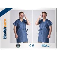 Nonwoven Disposable Isolation Gowns Colorful Clothing Single Use For Beauty Salon Manufactures