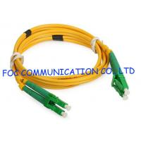 China LC / APC Fiber Optic Jumper Cables Duplex LSZH Jacket Corning For Fiber Testing on sale