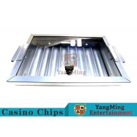 8 Row Thick Silver Color Poker Chip Trays Convenient Use Easy To Counting Manufactures