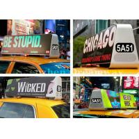 China 4G / Wifi Control Taxi Top Led Display , Small LED Billboard Advertising Signs For Car on sale