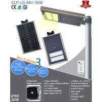 Buy cheap 2018 New Product Solar Powered 12V Solar LED Street Light Integrated 30W for Factory,School,Parking Lot,ect from wholesalers