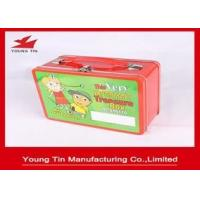 Metal Tinplate Rectangle Lunch Tin Container Box 218 x 165 x 100 MM With Custom Printing Manufactures