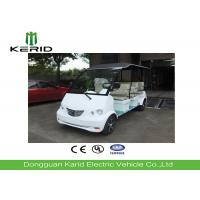 White 4kW Electric Sightseeing Car Designed For Patrol Purpose 8 Passengers Electric Tourist Cart Manufactures