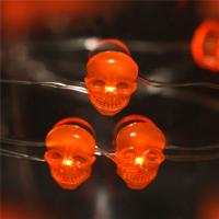 Wire Halloween Tree battery operated orange smd skull Led halloween lights Manufactures