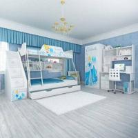 E0 Grade Kids' Bunk Bed Furniture, Children Furniture, Home Product, Desk, Chair, Disney, Princess Manufactures
