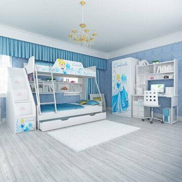 Quality E0 Grade Kids' Bunk Bed Furniture, Children Furniture, Home Product, Desk, Chair, Disney, Princess for sale