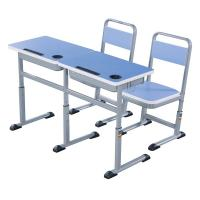 Double Primary School Student Desk And Chair Set 1.2 MM Steel Electrostatic Spraying Manufactures
