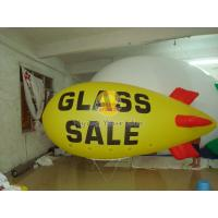 Attractive Yellow Inflatable Advertising Helium Zeppelin with Two Sides Digital Printing Manufactures