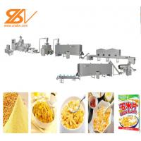 110KW Breakfast Cereal Maize Flakes Making Machine Low Electric Cost Manufactures