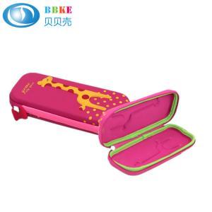China Coloring Durable EVA Pencil Case Zipper Closure For Schoolgirl , Eco - Friendly on sale
