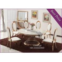 China Luxury Gold Stainless Steel Dining Table with Chair For Sale (YS-4) on sale