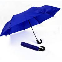Mens Compact Umbrella Push Button Open Close Royal Blue 21 Inches Plastic Tips Manufactures