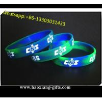Sport silicone wristband/bracelet for sale Printing / Debossed / Embossed logo Manufactures