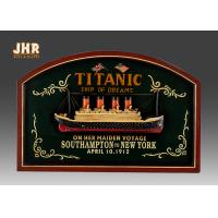 Memorial Titanic Wall Decor Wooden Wall Plaques Resin Cruise Ship Antique Wood Pub Sign Manufactures