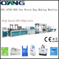 China ONL-A700-800 Popular automatic non woven t-shirt bag making machine on sale