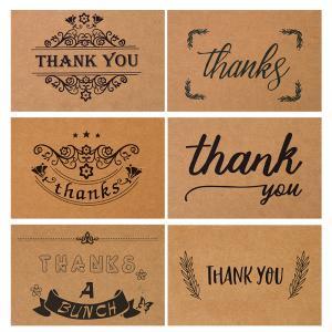 CMYK Pantone Color Custom Card Printing Game Kraft Paper Thank You Cards Manufactures