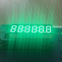 "Long lifetime Pure Green 0.36"" 6-Digit LED Clock Display common anode for Instrument Panel Manufactures"