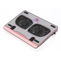 Aluminum 2 Fan 120mm Laptop Cooling Pads , Pink laptop cooler in 750 Horse 1000rpm Fan Speed Manufactures