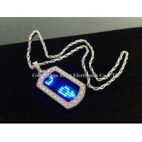 China 2015 new fashion flashing message text led name tag/school tag in Guangzhou on sale