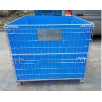 Factory Foldable stainless steel wire mesh metal pallet Storage Cage wire Manufactures