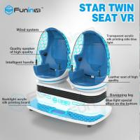 Two players 1.2KW VR Game Machine / 9d Cinema Simulator With VR Helmet Manufactures