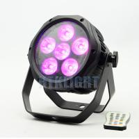 6 * 18W RGBWA + UV 6 in1 Battery Powered DMX Lights / Led Par Light Manufactures