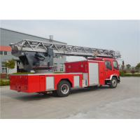 Six Seats Aerial Ladder Fire Truck ISUZU Chassis Water Cooled Diesel Engine Manufactures