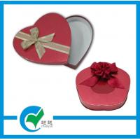 China Red Heart Shaped Gift Cardboard Jewellery Boxes with Glossy / Matt Lamination on sale