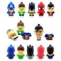 Rubber PVC customized USB Flash Drive super hero usb flash memory pendrives 4gb 8gb Manufactures