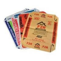 China Polypropylene Woven Cement Valve Bags , Waterproof Cement Packing Bags on sale