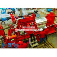 Diesel Engine Driven Fire Water Pump Set With 6 stage Multistage Vertical Turbine Fire Pump With 250 Usgpm Manufactures