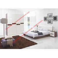 Quality Storage bed box with oil bar support in dark oliver painting and white headboard for sale