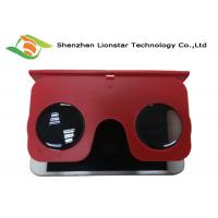 Foldable Colorful Plastic Virtual Reality Glasses Portable PMMA 32MM Lens Manufactures
