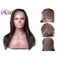 180% Density 360 Lace Frontal Wig With Adjusted Elastic Band / Brazilian Human Hair Manufactures