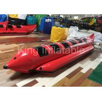 Red Water Game Banana Boat Inflatable Fly Fishing Boats For Water Racing Sport Manufactures