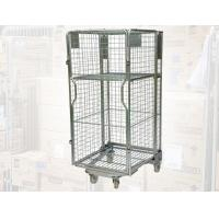 Nesting Metal Cage Trolley Colorful Powder Coating Rolling Cage Cart