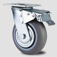 Heavy duty caster with TPR wheel ,100mm to 200mm,double look caster Manufactures