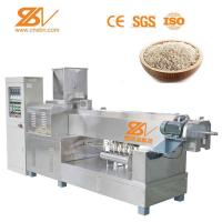 China Double Extruder Artificial Rice Production Line 1.1×0.8×1.4 M 1 Year Warranty on sale